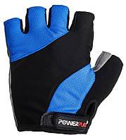 Перчатки для велосипеда велоперчатки  PowerPlay 5041 B черно- синие L