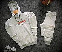 Мужской спортивный костюм New Balance серого цвета, фото 1