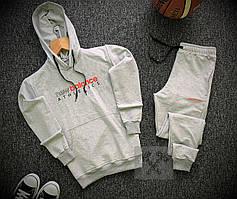 Мужской спортивный костюм New Balance серого цвета