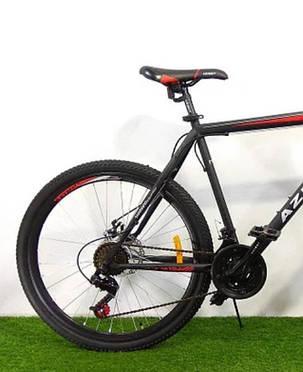 "Спортивный велосипед 26 дюймов Azimut Energy FR/D рама 21"" BLACK-RED, фото 2"