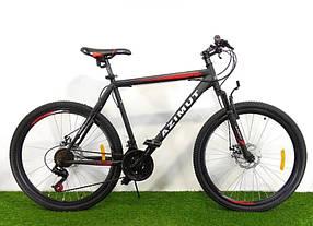 """Спортивний велосипед 26 дюймів Azimut Energy FR/D рама 21"""" BLACK-RED"""