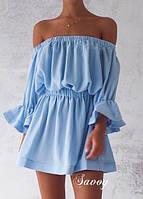 Легкое летнее платье белое, голубое