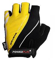 Перчатки для велосипеда велоперчатки  PowerPlay 5024 D черно- желтые XS