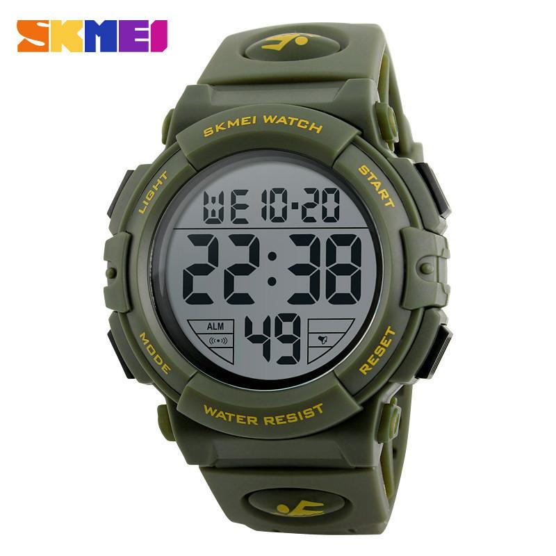 Skmei 1258 зеленые мужские спортивные часы
