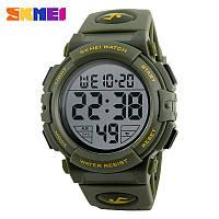 Skmei 1258 зеленые мужские спортивные часы, фото 1