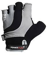 Перчатки для велосипеда велоперчатки PowerPlay 5015 A серые M