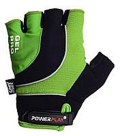 Перчатки для велосипеда велоперчатки PowerPlay 5015 B зеленые S