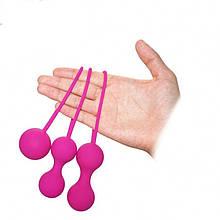 Силиконовые вагинальные шарики A Toys (набор)