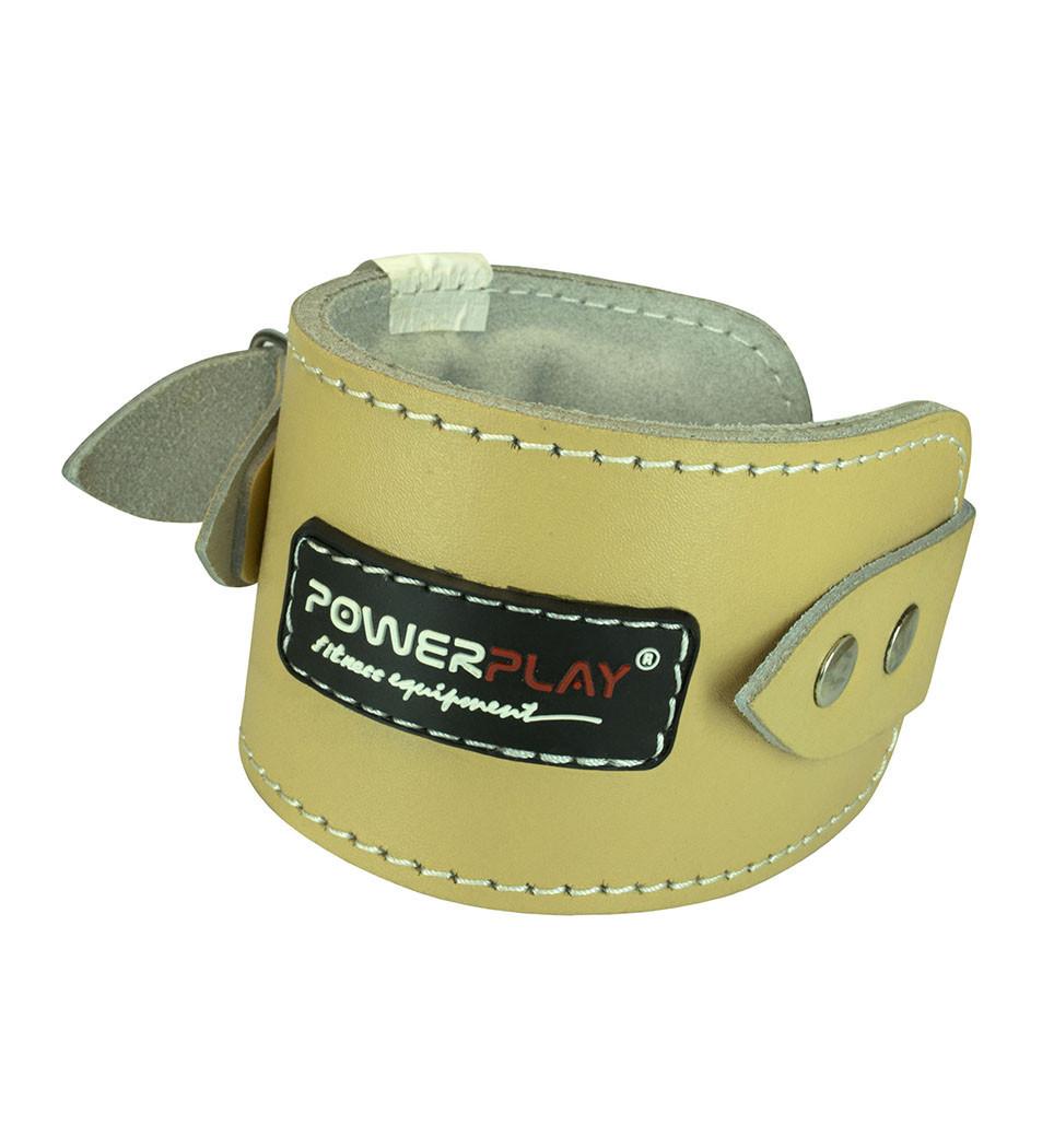 Манжета для тяги шкіряна на щиколотку PowerPlay 5196 світло - коричнева