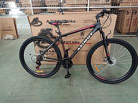 "Спортивный велосипед 26 дюймов Azimut Energy FR/D рама 21"" BLACK-RED, фото 3"