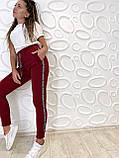 Спортивные штаны женские чёрный, бордо, фото 8