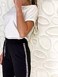 Спортивные штаны женские чёрный, бордо, фото 4