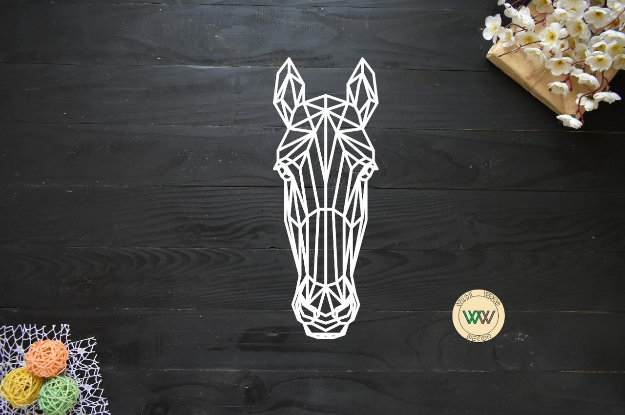 """Настенное панно из линий. Полигональная картина, декор на стену, геометрические животные. """"Лошадь"""""""
