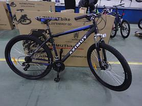 "Спортивный велосипед 26 дюймов Azimut Energy FR/D рама 21"" BLACK-BLUE, фото 2"