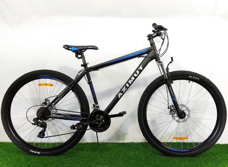 """Спортивный велосипед 26 дюймов Azimut Energy FR/D рама 21"""" BLACK-BLUE"""