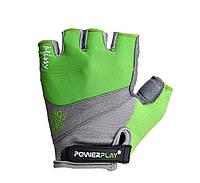 Перчатки для велосипеда женские  PowerPlay 5277 D зеленые S