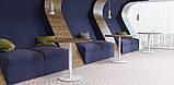 """Белые круглые ножки """"UNO"""" опры из металла для столика в ресторан кафе бар, фото 3"""