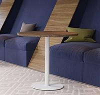 """Белые круглые ножки """"UNO"""" опры из металла для столика в ресторан кафе бар, фото 1"""