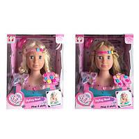 Кукла YL888A-1-B-1 (8шт) голова для причесок, косметика, расческа, 2вида, в кор-ке, 26,5-33-2см