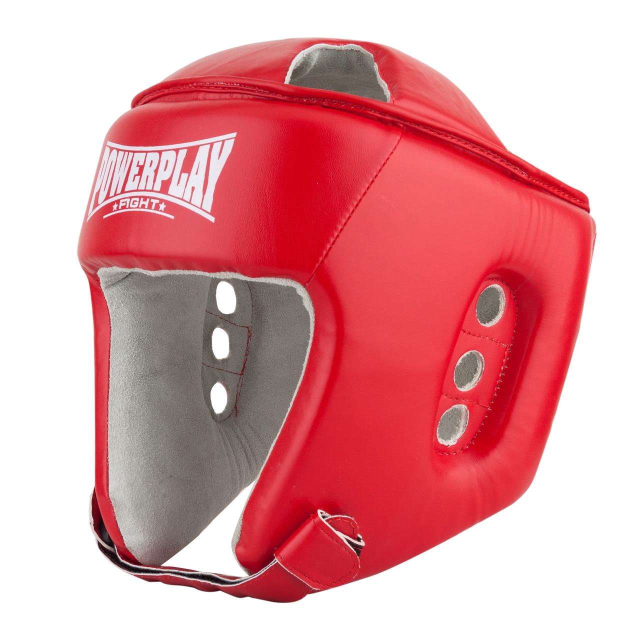 Боксерський шолом тренувальний PowerPlay 3084 червоний XL