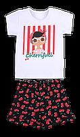Летний детский костюм для девочки *Тутти-Фрутти*