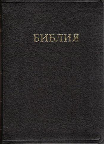 Библия каноническая: натуральная кожа, золотой обрез, метки, размер 12,5х17,5 см