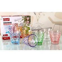 Набор стаканов из 6шт. 250мл цв. стекло CHN /Y3050PS/L6/128 / 6252