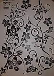 """Крупный набор интерьерных наклеек  """"Цветочный каламбур"""" (черный цвет), фото 5"""