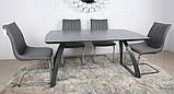 Раскладной обеденный стол LONDON керамика мокрый асфальт Nicolas (бесплатная адресная доставка), фото 3
