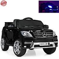 Мощный Детский электромобиль джип Mercedes 2 мотора M 3568EBLRS-2 черный автопокраска