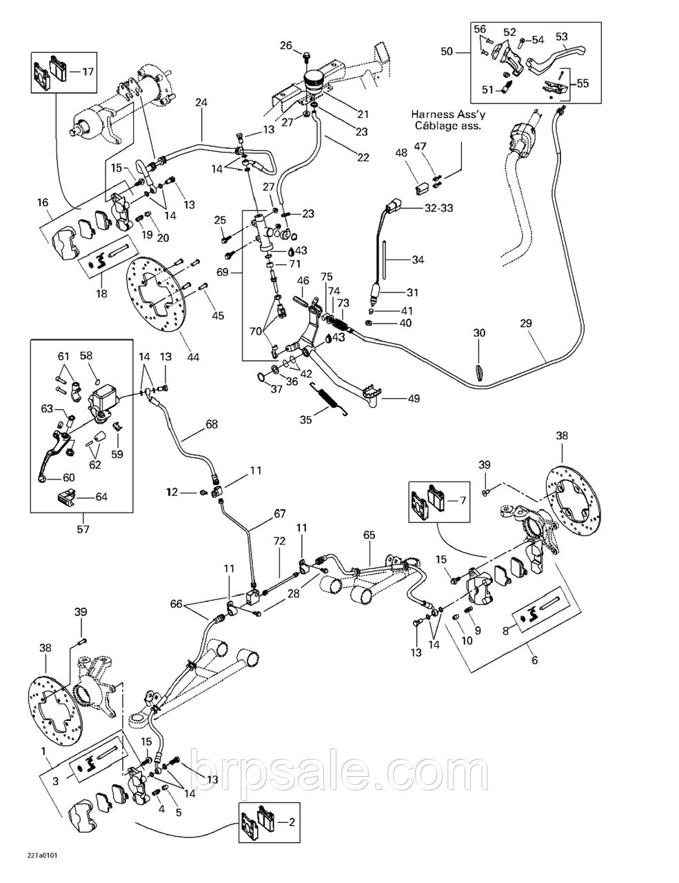 Тормозной диск 205 мм Can-Am BRP BRAKE-DISC