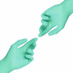Перчатки нитриловые неопудренные Зеленые GREEN 50 пар\уп