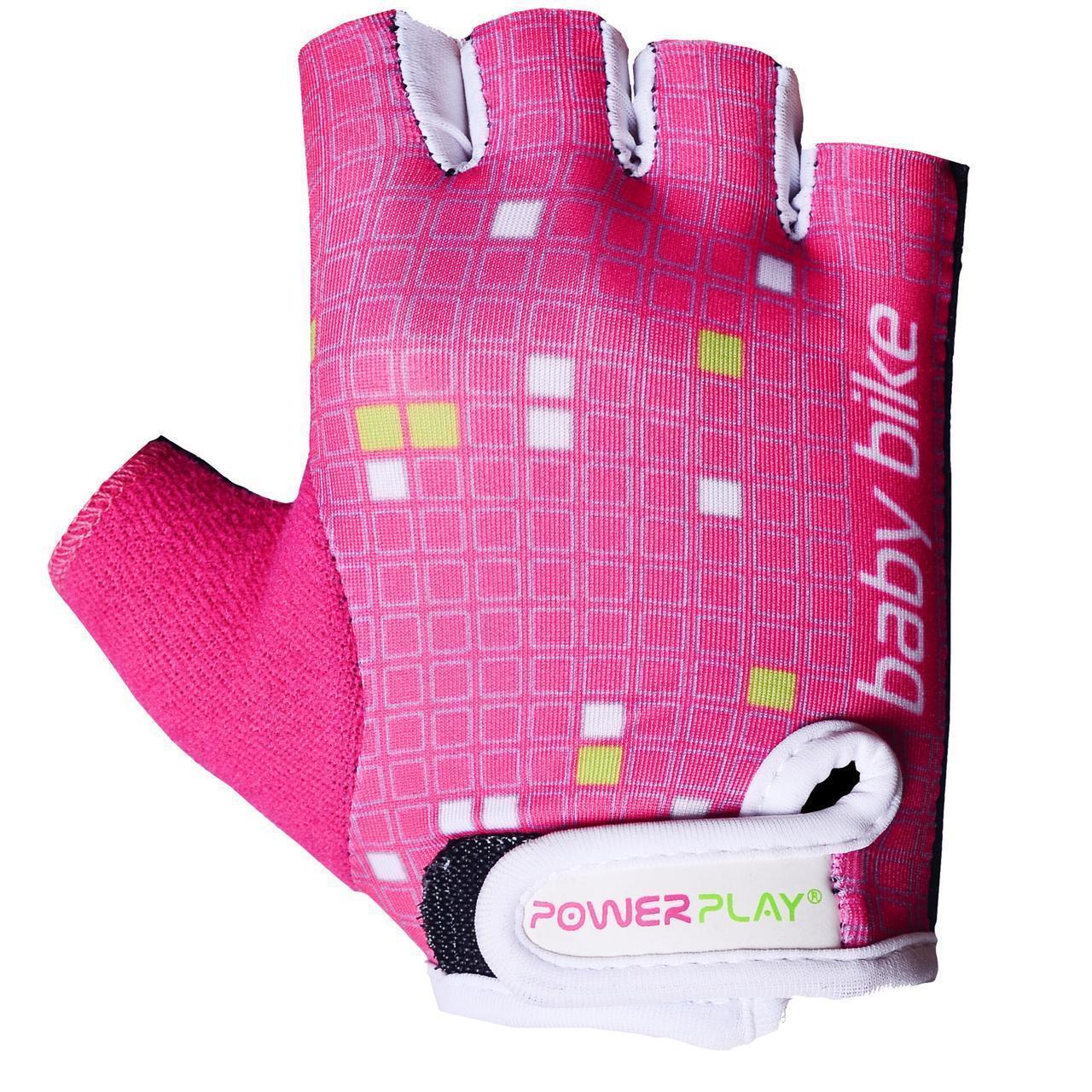 Велоперчатки детские перчатки для велосипеда  PowerPlay 5451 розовые XS