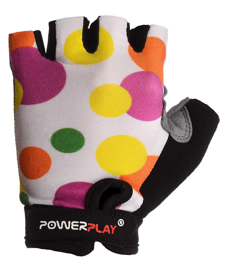 Детские велоперчатки PowerPlay 5453 белые 3XS
