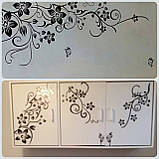 """Крупный набор интерьерных наклеек  """"Цветочный каламбур"""" (черный цвет), фото 4"""