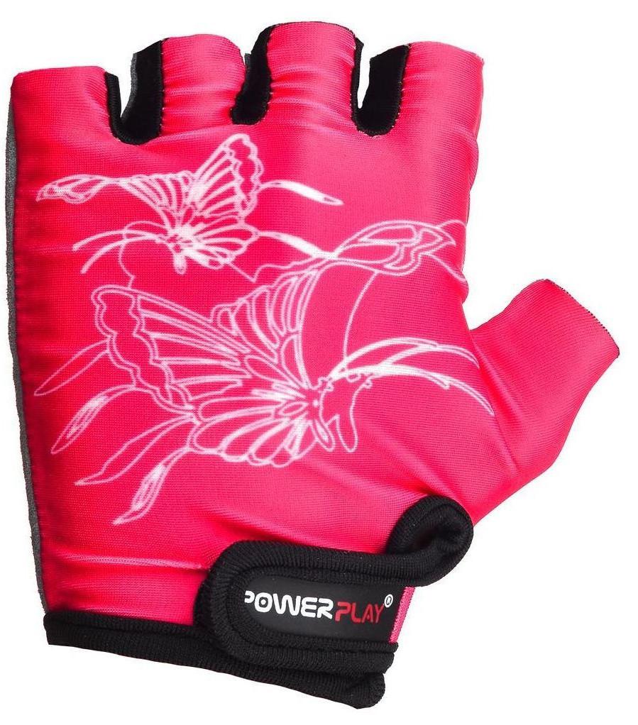 Детские перчатки для велосипеда PowerPlay 5477 розовые 3XS