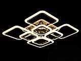 Светодиодная LED люстра с диммером и  подсветкой, цвет чёрный хром, 150W, фото 3