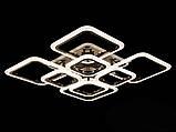 Светодиодная LED люстра с диммером и  подсветкой, цвет чёрный хром, 150W, фото 4