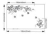 """Крупный набор интерьерных наклеек  """"Цветочный каламбур"""" (черный цвет), фото 3"""