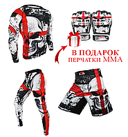 Комплект SUOTF рашгард, леггинсы, шорты и в ПОДАРОК перчатки MMA.