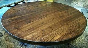 Круглые столешницы из массива натурального дерева для стола