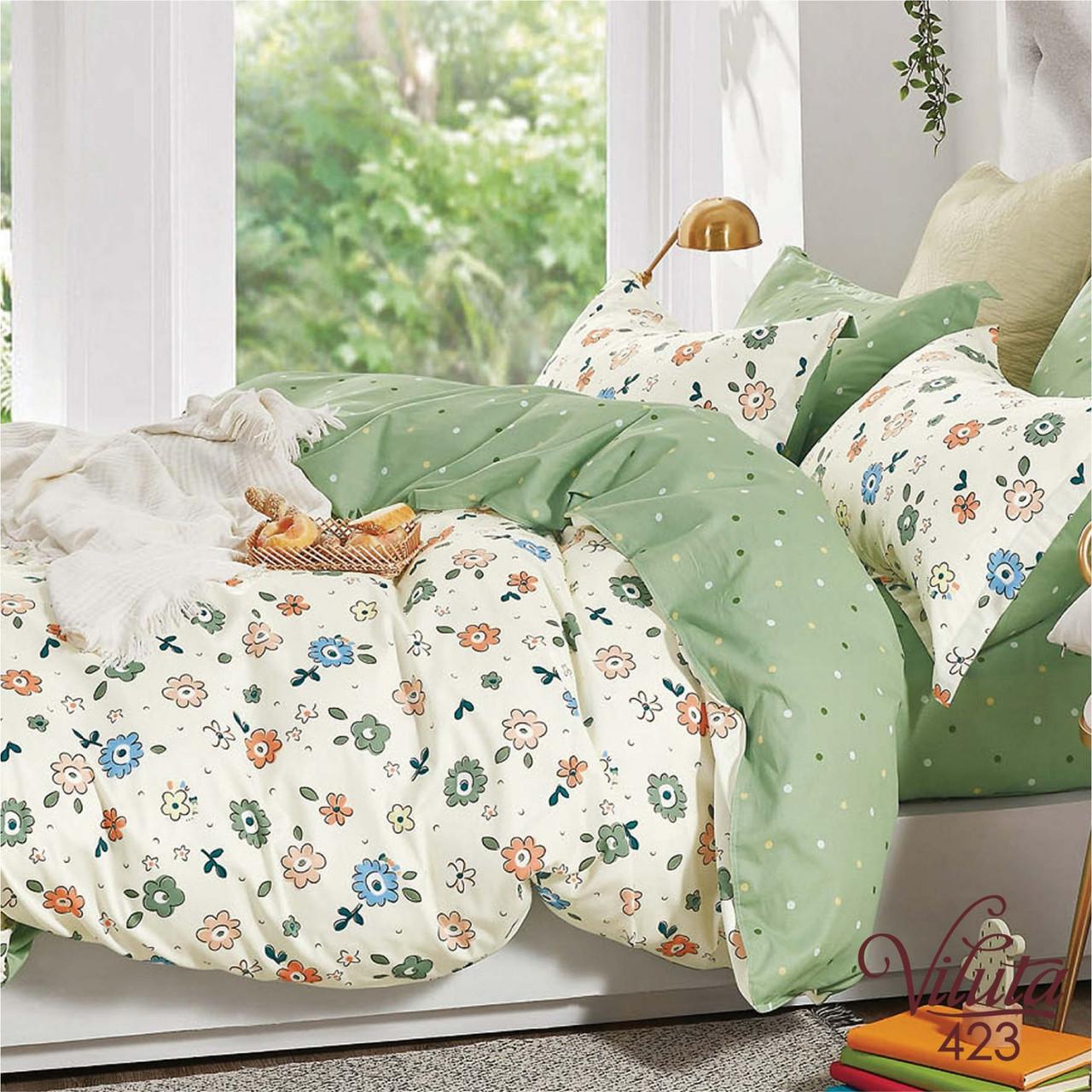 Комплект постельного белья сатин 423 Viluta Евро