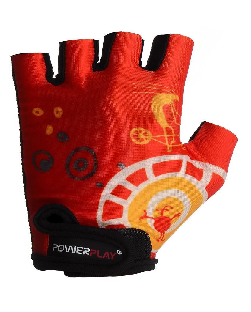 Дитячі велоперчатки PowerPlay 001 B червоні 2XS