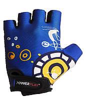 Детские перчатки для велосипеда PowerPlay 001 C синие 3XS