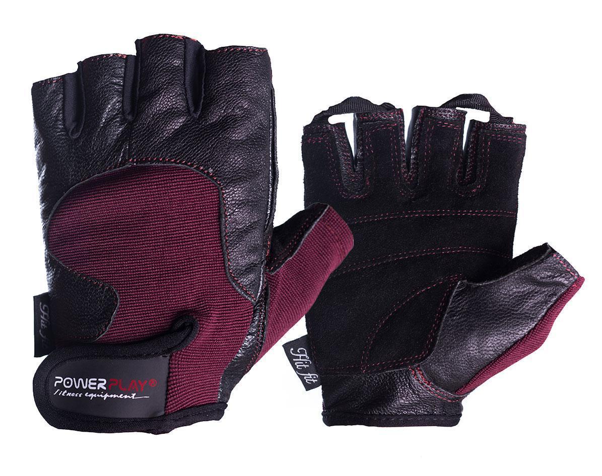 Рукавички для фітнесу PowerPlay 2154 Чорно-Коричневий S