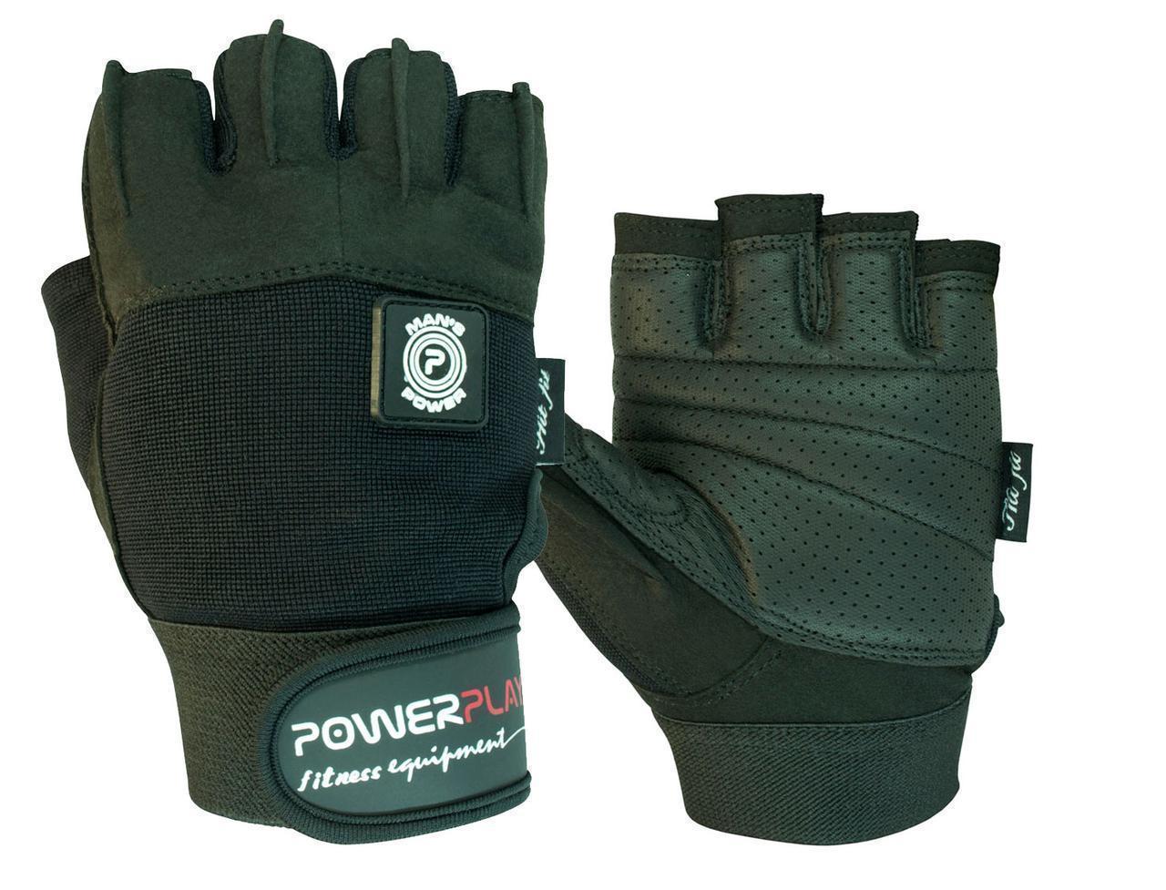 Рукавички для фітнесу PowerPlay 1559 Чорні M