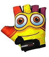 Детские перчатки для велосипеда PowerPlay 5473 Minion желтые XS