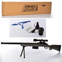 Ружье 329-1 (16шт) 110см, водяные пули, очки, в кор-ке