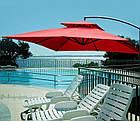 Садова парасоля з боковою стійкою для літнього майданчика Desco 250х250 см, фото 5