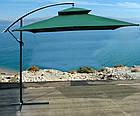 Садова парасоля з боковою стійкою для літнього майданчика Desco 250х250 см, фото 6